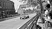 Mexican BRM driver, Pedro Rodriguez, handles his car along the straight during the 1969 Spanish Grand Prix at the Montjuïc urban circuit in Barcelona, Spain.
