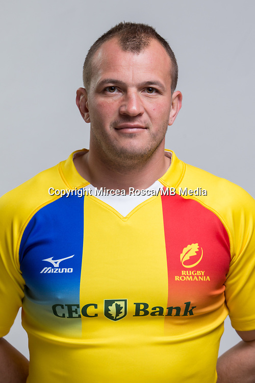 CLUJ-NAPOCA, ROMANIA, FEBRUARY 27: Romania's national rugby player Stelian Burcea pose for a headshot, on February 27, 2018 in Cluj-Napoca, Romania. (Photo by Mircea Rosca/Getty Images)
