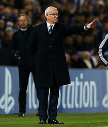 Leicester City manager Claudio Ranieri gestures ahead of Club Brugge manager Michel Preud'homme  - Mandatory by-line: Matt McNulty/JMP - 22/11/2016 - FOOTBALL - King Power Stadium - Leicester, England - Leicester City v Club Brugge - UEFA Champions League