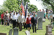 Hamptonburgh, NYA veteran and American Legion member leads a paradee through Hamptonburgh Cemetery during Memorial Day ceremonies at Hamptonburgh Cemetery on May 25, 2009. This was the 142nd year flowers have been placed at veterans' graves at the cemetery.