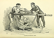 Japanese Traveling Chair from the book ' Rambles in Japan : the land of the rising sun ' by Tristram, H. B. (Henry Baker), 1822-1906. Publication date 1895. Publisher New York : Revell