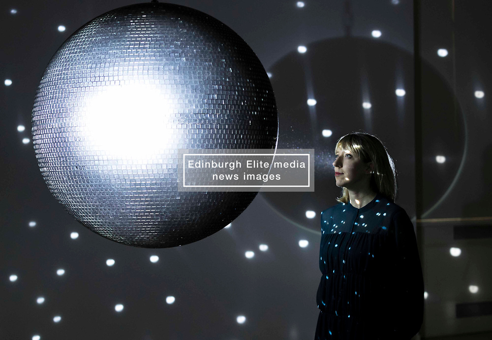 Katie Paterson with her 2016 work Totality at the Humanity, Time and the Cosmos press call. Humanity, Time and the Cosmos is the sixth and final instalment of the ground-breaking NOW Series at the Scottish National Gallery of Modern Art. It includes the first major showing in Scotland of Scottish artist, Katie Paterson, whose works are made possible through extensive collaborations with scientists, specialists, writers and others in the forefront of their fields.