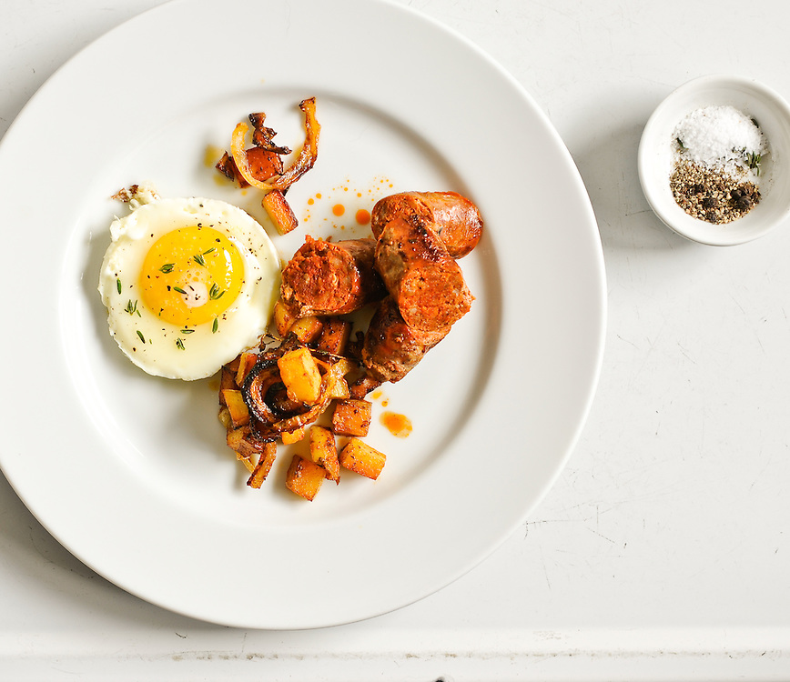 Chorizo and Eggs with Hash Browns