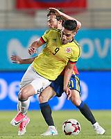 Spain's David Jimenez Silva (r) and Colombia's Radamel Falcao during international friendly match. June 7,2017.(ALTERPHOTOS/Acero)