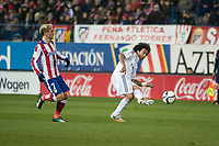 Atletico de Madrid's Griezmann and Real Madrid's Marcelo during 2014-15 Spanish King Cup match at Vicente Calderon stadium in Madrid, Spain. January 07, 2015. (ALTERPHOTOS/Luis Fernandez)