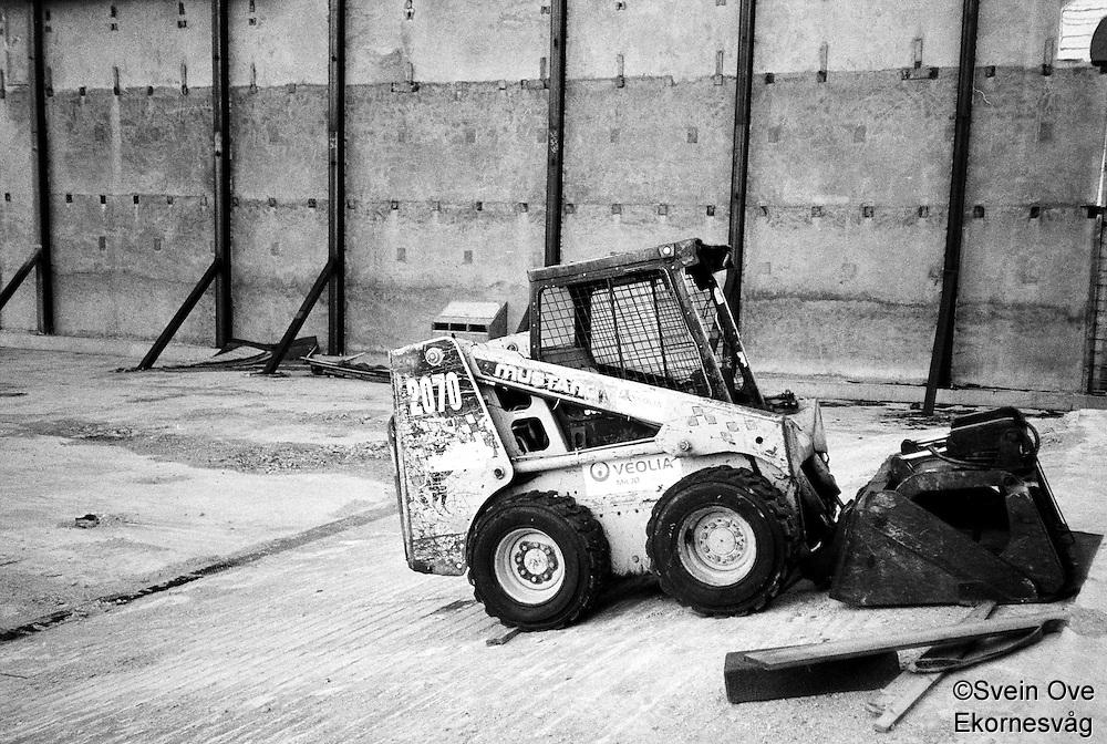 Byggearbeid i Nedre Strandgate i Ålesund.<br /> Foto:Svein Ove Ekornesvåg