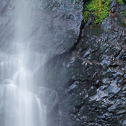 Waterfall detail , Cascade du Queureuilh, PNR Volcans Auvergne, France