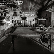 Wardroom table and Tenements Bunks, where Bowers, Cherry-Garrard, Oats, Meares and Atkinson slept.
