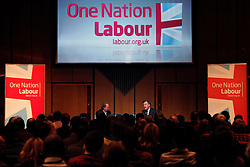 © Licensed to London News Pictures. 23/3/2013. Birmingham, UK. Labour Policy Forum at the ICC.Pictured, Ed Balls Talking in one of the Forum meetings. Photo credit : Dave Warren/LNP
