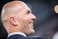Real Madrid's coach Zinedine Zidane during XXXVIII Santiago Bernabeu Trophy at Santiago Bernabeu Stadium in Madrid, Spain August 23, 2017. (ALTERPHOTOS/Borja B.Hojas)