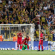Fenerbahce's and Eskisehirspor's players during their Turkish superleague soccer derby Fenerbahce between Eskisehirspor at the Sukru Saracaoglu stadium in Istanbul Turkey on Friday 14 August 2015. Photo by Aykut AKICI/TURKPIX