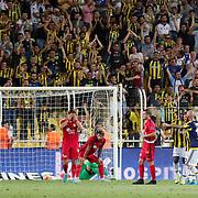 Fenerbahce's and Eskisehirspor's players during their Turkish superleague soccer derby Fenerbahce between Eskisehirspor at the Sukru Saracaoglu stadium in Istanbul Turkey on Friday 14 August 2015. Photo by Aykut AKICI/TURKPIX