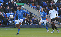 Ivan Toney of Peterborough United scores his sides opening goal of the game - Mandatory by-line: Joe Dent/JMP - 01/12/2019 - FOOTBALL - Weston Homes Stadium - Peterborough, England - Peterborough United v Dover Athletic - Emirates FA Cup second round