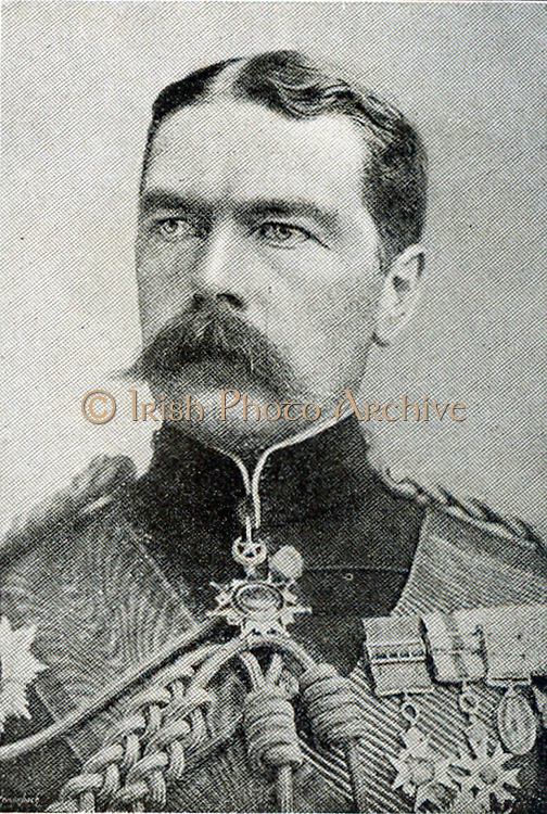 Lord Kitchener superseded Lord Roberts in Dec. 1910 as Commander-in-chief of the British troops in South Africa.  He represented the English Government in the negotiations which were crowned by the Peace Treaty of Vereeniging.