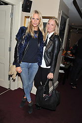 Left to right, POPPY DELEVINGNE and ALICE NAYLOR-LEYLAND at the launch of The Art of handmade Living by Willow Crossley held at George, 87-88 Mount Street, London on 11th October 2012.