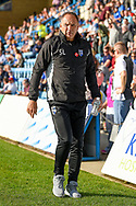 Gillingham FC manager Steve Lovell during the EFL Sky Bet League 1 match between Gillingham and Southend United at the MEMS Priestfield Stadium, Gillingham, England on 13 October 2018.