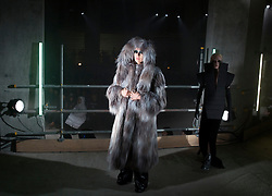 Models during the Gareth Pugh Autumn/Winter 2017 London Fashion Week show at Collins' Music Hall, London. PRESS ASSOCIATION. Picture date: Saturday February 18, 2017. Photo credit should read: Isabel Infantes/PA Wire