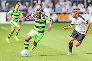 Forest Green Rovers Drissa Traore (4) runs with the ball during the Vanarama National League match between Dover Athletic and Forest Green Rovers at Crabble Athletic Ground, Dover, United Kingdom on 10 September 2016. Photo by Shane Healey.