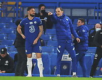 Football - 2020 / 2021 Premier League - Chelsea vs Brighton & Hove Albion - Stamford Bridge<br /> <br /> Chelsea manager, Thomas Tuchel with Olivier Giroud<br /> <br /> Credit : COLORSPORT/ANDREW COWIE