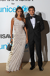 Riccardo Pozzoli e Gabrielle Caunesil arriving at a photocall for the Unicef Summer Gala Presented by Luisaviaroma at Villa Violina on August 10, 2018 in Porto Cervo, Italy. Photo by Alessandro Tocco/ABACAPRESS.COM