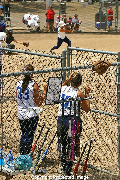 women's baseball game