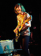 WASHINGTON, D.C. - March 10th, 2011: Carrie Brownstein  of WIld Flag performs at the Black Cat in Washington, D.C. The band consists of former members of Sleater-Kinney, Helium and The Minders and will record and release their debut album later this year.   (Photo by Kyle Gustafson/For The Washington Post)