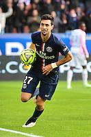 Joie Javier PASTORE - 18.01.2015 - Paris Saint Germain / Evian Thonon - 21eme journee de Ligue 1<br />Photo : Dave Winter / Icon Sport