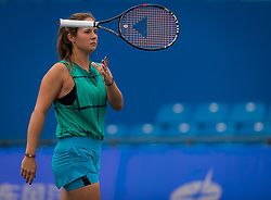 September 22, 2018 - Daria Kasatkina of Russia practices at the 2018 Dongfeng Motor Wuhan Open WTA Premier 5 tennis tournament (Credit Image: © AFP7 via ZUMA Wire)