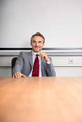 Man office portrait suit smiling manager working