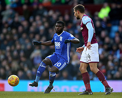 Aston Villa's Conor Hourihane (right) and Birmingham City's Jeremie Boga battle for the ball