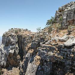 """A Fenda da Tundavala (Tunda Vala) na """"beira"""" do Planalto Angolano com cerca de 2400m acima do nível do mar neste ponto. Província da Huíla, Angola"""