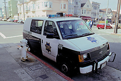 Police Van Parked At Fire Hydrant