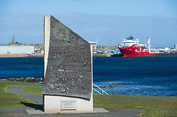 The Peterhead Fishermen's Memorial, Peterhead, Aberdeenshire, Scotland, UK.<br /> Photo: Ed Maynard<br /> 07976 239803<br /> www.edmaynard.com