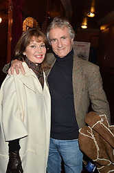 STEPHANIE BEACHAM and BERNIE GREENWOOD at a VIP evening for the pantomime Aladdin at The New Wimbledon Theatre, The Broadway, Wimbledon, London SW19 on 9th December 2013.