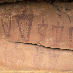 Canyonlands National Park, UT..Ancestral Puebloan pictographs in the Needles District.