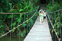 Suspension Bridge at Khao Yai National Park -  Khao Yai was Thailand's first national park. Today it is the second largest national park in Thailand.  With hundreds of species of birds, and wild deer and elephants roaming around. Khao Yai  was listed as a UNESCO World Heritage Site in 2005.