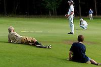 AMBT-DELDEN - Jan Willem van Hoof en Robert Niemer. NK Matchplay golf op de Twentsche GC. COPYRIGHT KOEN SUYK