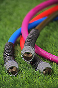 Hoses on the grass.<br /> <br /> Gardener's Supply Company