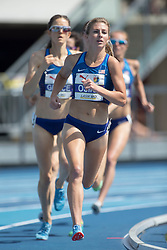 August 12, 2018 - Toronto, ON, U.S. - TORONTO, ON - AUGUST 12: Shannon Osika (USA), silver in the 1500m at the 2018 North America, Central America, and Caribbean Athletics Association (NACAC) Track and Field Championships on August 12, 2018 held at Varsity Stadium, Toronto, Canada. (Photo by Sean Burges / Icon Sportswire) (Credit Image: © Sean Burges/Icon SMI via ZUMA Press)