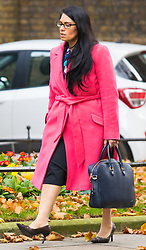Downing Street, London, November 3rd 2015.  Employment Minister Priti Patel arrives at 10 Downing Street to attend the weekly cabinet meeting. /// Licencing: Paul@pauldaveycreative.co.uk Tel:07966016296 or 020 8969 6875