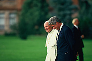 Pope John Paul ll and President Bill Clinton at World Youth Day in Denver, CO on 8/15/1993<br />Photo by Dennis Brack
