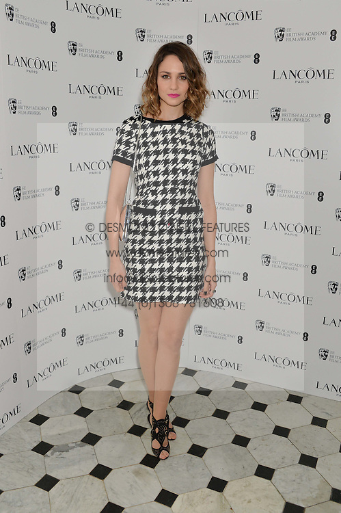 TUPPENCE MIDDLETON at the Lancôme pre BAFTA party held at The London Edition, 10 Berners Street, London on 14th February 2014.