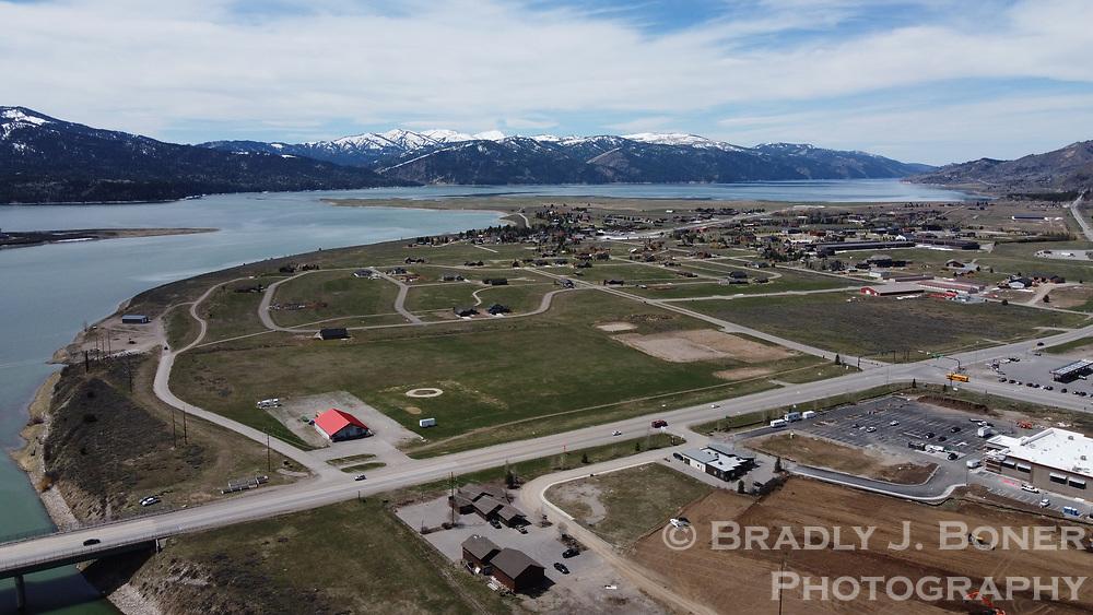 Aerial of Alpine, Wyoming