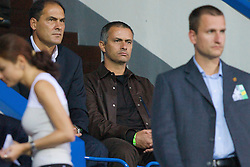 TEPLICE, CZECH REPUBLIC - SATURDAY, SEPTEMBER 2nd , 2006: Chelsea's manager Jose Mourinho in Teplice to watch Wales take on Czech Republic during the opening UEFA Euro 2008 Group D qualifying match at the Na Stinadlech Stadium. (Pic by David Rawcliffe/Propaganda)