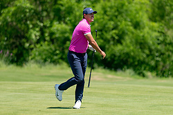 May 12, 2019 - Dallas, TX, U.S. - DALLAS, TX - MAY 12: Brooks Koepka reacts after hitting his approach shot to #7 during the final round of the AT&T Byron Nelson on May 12, 2019 at Trinity Forest Golf Club in Dallas, TX. (Photo by Andrew Dieb/Icon Sportswire) (Credit Image: © Andrew Dieb/Icon SMI via ZUMA Press)