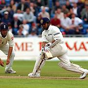 India's Sachin Tendulkar hooks the ball against England.