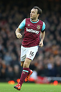 Mark Noble of West Ham United in action. The Emirates FA cup, 3rd round match, West Ham Utd v Wolverhampton Wanderers at the Boleyn Ground, Upton Park  in London on Saturday 9th January 2016.<br /> pic by John Patrick Fletcher, Andrew Orchard sports photography.