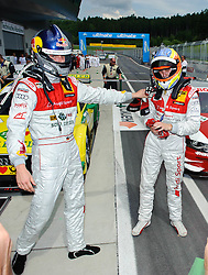 05.06.2011, Red Bull Ring, Spielberg, AUT, DTM Red Bull Ring, im Bild Martin Tomczyk, (GER,  Audi Sport Team Phoenix) links und Oliver Jarvis, (GBR, Audi Sport Team Abt) // during the DTM race on the Red Bull Circuit in Spielberg, 2011/06/05, EXPA Pictures © 2011, PhotoCredit: EXPA/ S. Zangrando