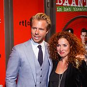 NLD/Amsterdam/20130107 - Premiere toneelstuk Baantjer, Thijs Römer en partner Katja Schuurman