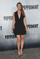 August 30, 2018 - Los Angeles, California, USA - 8/28/18.Ashley Gibson at the premiere of ''Peppermint'' held at the Regal Cinemas LA Live in Los Angeles, CA, USA. (Credit Image: © Starmax/Newscom via ZUMA Press)